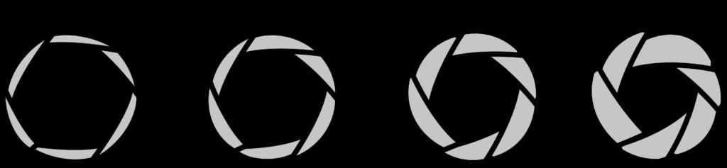 Verschiedene Blendenöffnungen