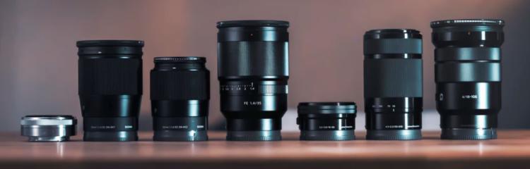 Verschiedene Kameraobjektive